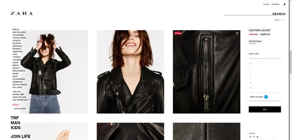 o da Zara áo da thật , áo da nam