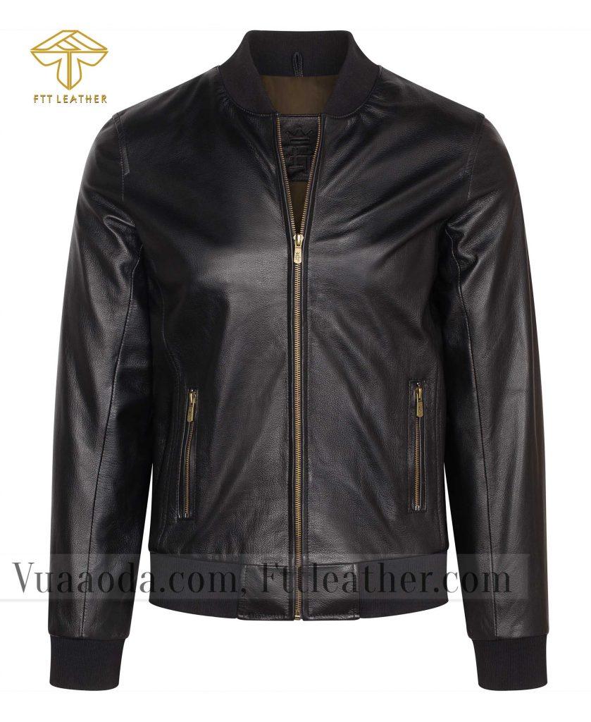 ao khoac da de 4 1501575053 1 áo da thật , áo da nam