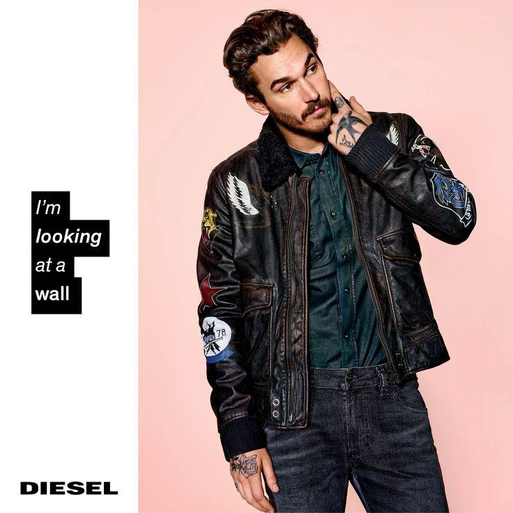 4184df2fb3a66032992101deaa85d176 diesel jeans advertising campaign áo da thật , áo da nam