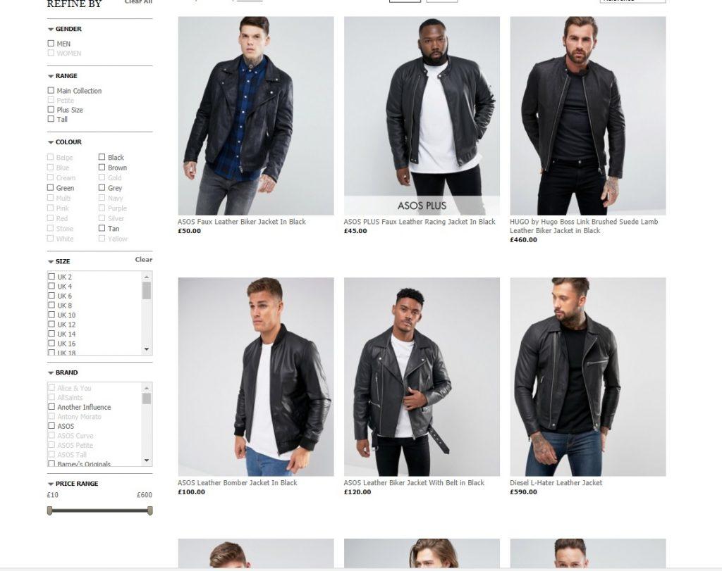 asos leather jacket áo da thật , áo da nam