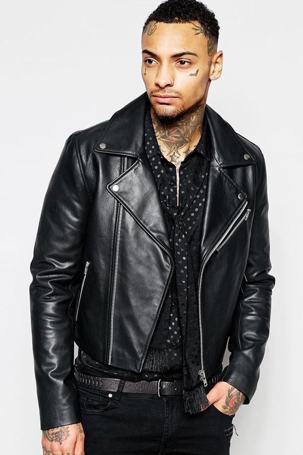 asos leather jacket 2 áo da thật , áo da nam