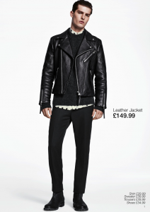 hm autumn winter 2014 2015 mens collection lookbook biker jacket leather áo da thật , áo da nam