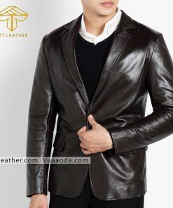 o vest da nam đẹp 1 áo da thật, áo da nam