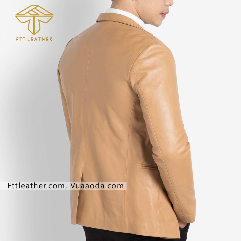 o vest da nam xịn 2 Áo da nam, áo da thật