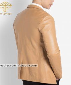 o vest da nam xịn 2 áo da thật, áo da nam